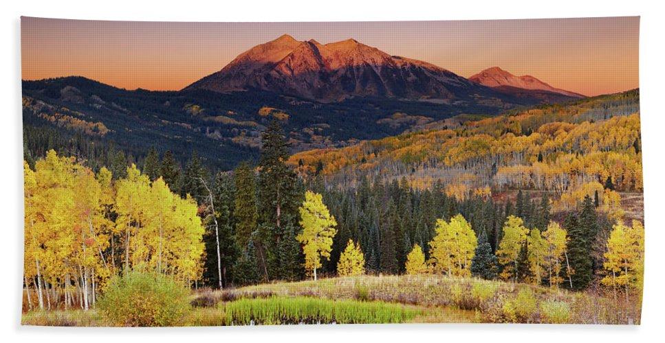 America Bath Towel featuring the photograph Autumn Mountain Landscape, Colorado, Usa by Dmitry Pichugin