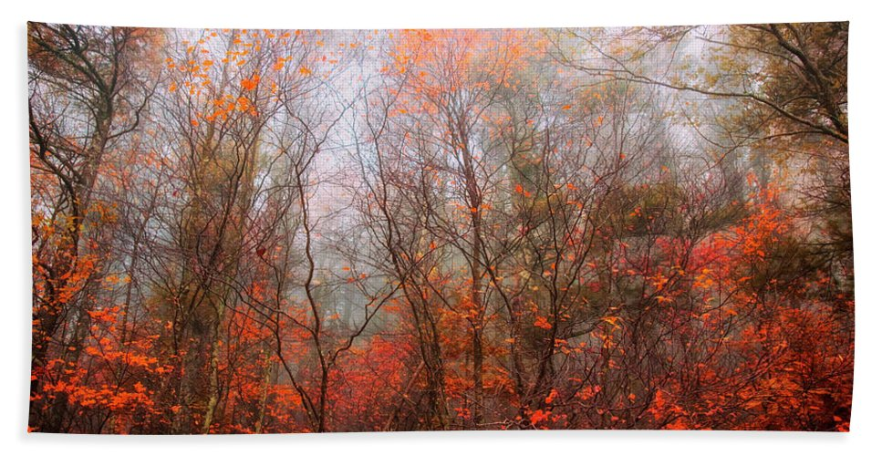 Landscape Bath Sheet featuring the photograph Autumn On The Mountain by Keith Vanstone