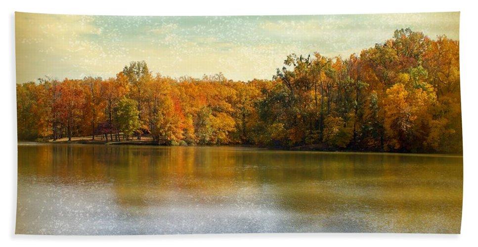 Autumn Bath Sheet featuring the photograph Autumn by Sandy Keeton