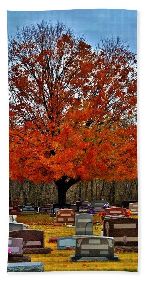 Autumn Bath Sheet featuring the photograph Autumn Somnolence by Michelle McPhillips