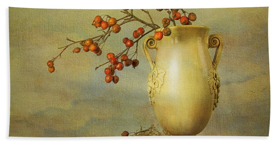 Dutch Masters Hand Towel featuring the photograph Autumn Still Life by Theresa Tahara