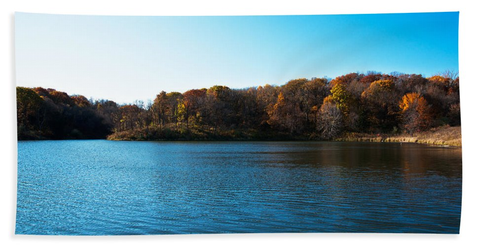 Autumn Bath Sheet featuring the photograph Autumn The In Loess Hills by Edward Peterson