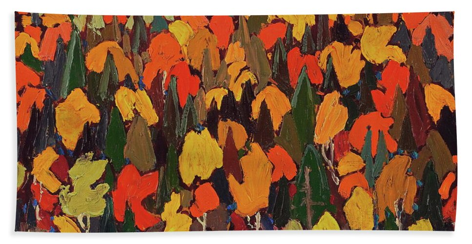 Autumn Hand Towel featuring the painting Autumn by Tom Thomson