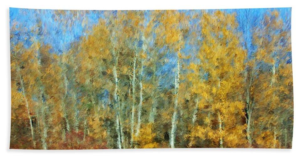 Bath Sheet featuring the photograph Autumn Woodlot by David Lane