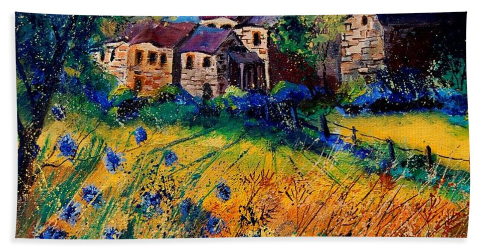 Tree Bath Towel featuring the painting Awagne 67 by Pol Ledent