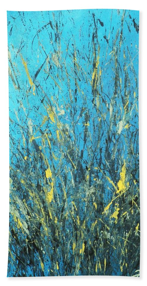 Splash Bath Towel featuring the painting Awakening by Todd Hoover