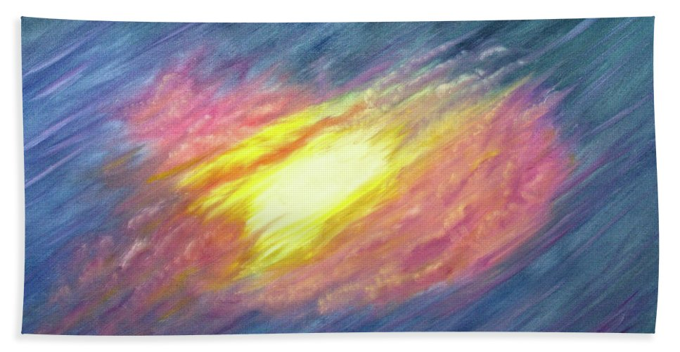 Christian Hand Towel featuring the painting Awesome Majesty by Vicki Hawkins