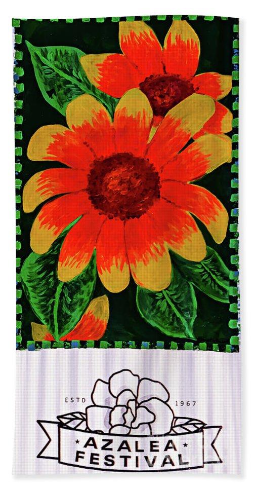 Tamyra Hand Towel featuring the photograph Azalea Festival Sign by Tamyra Ayles
