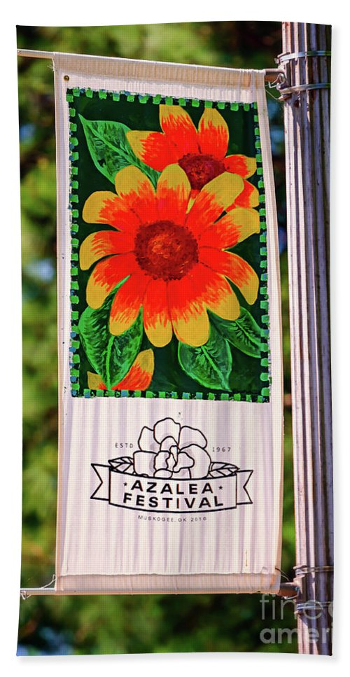 Tamyra Bath Sheet featuring the photograph Azalea Festival by Tamyra Ayles
