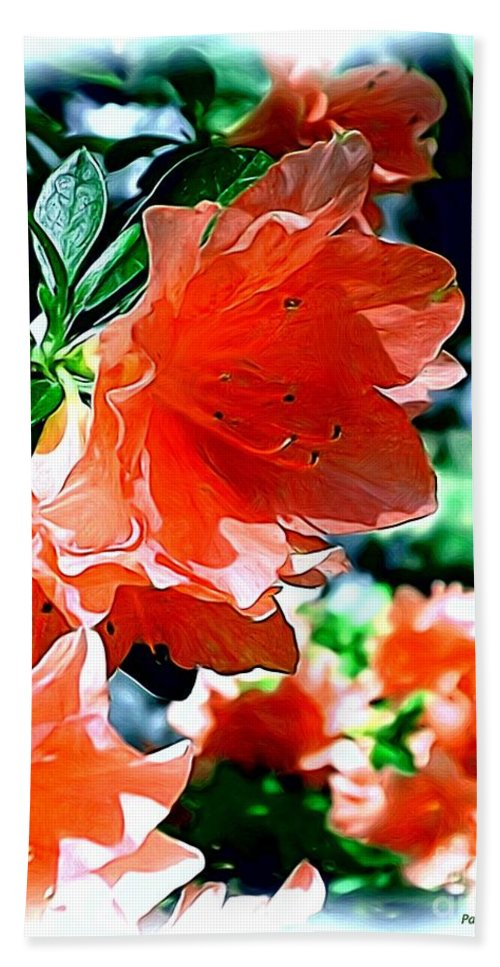 Fine Art Hand Towel featuring the painting Azaleas In The Spring by Patricia Griffin Brett