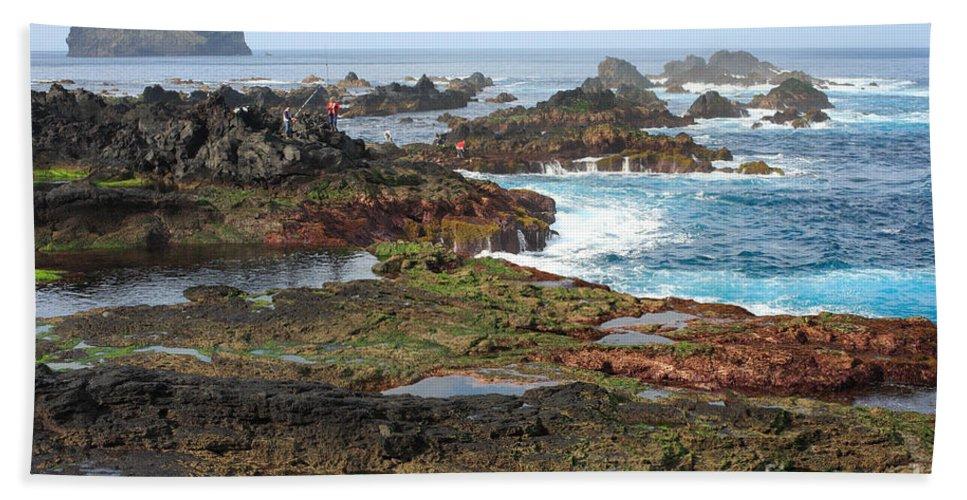 Atlantic Hand Towel featuring the photograph Azores Seascape by Gaspar Avila