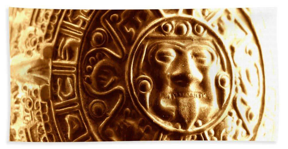 Artoffoxvox Bath Sheet featuring the photograph Aztec Gold Photograph by Kristen Fox
