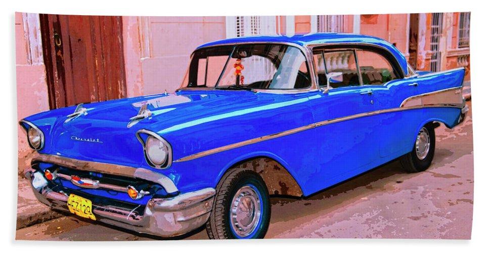 Azul Cobalto Bath Sheet featuring the mixed media Azul Cobalto by Dominic Piperata