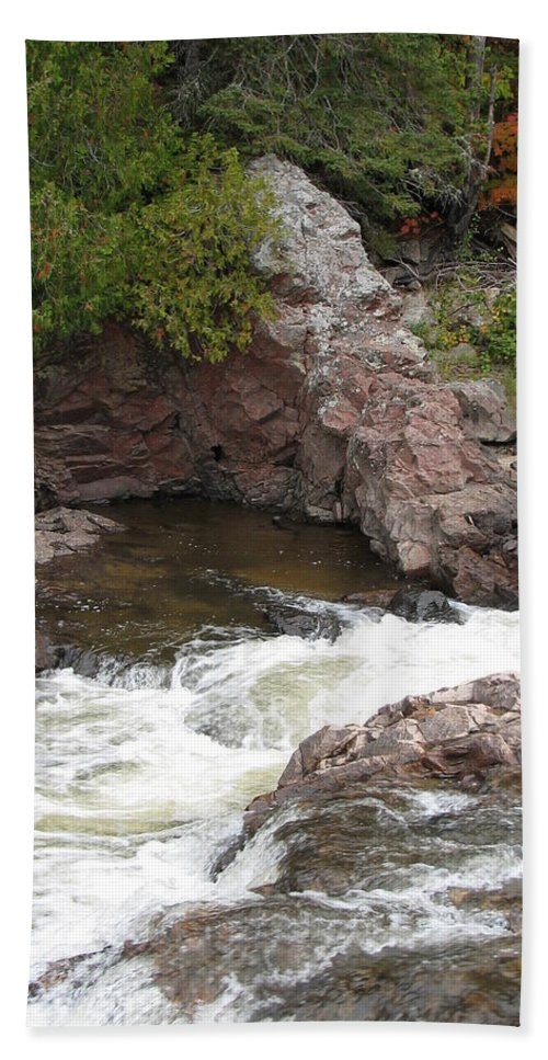 River Hand Towel featuring the photograph Babbling by Kelly Mezzapelle