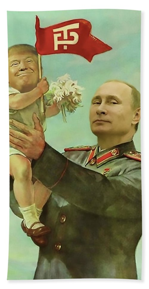 Baby Trump Putin Bath Towel for Sale by All Art Is Erotic