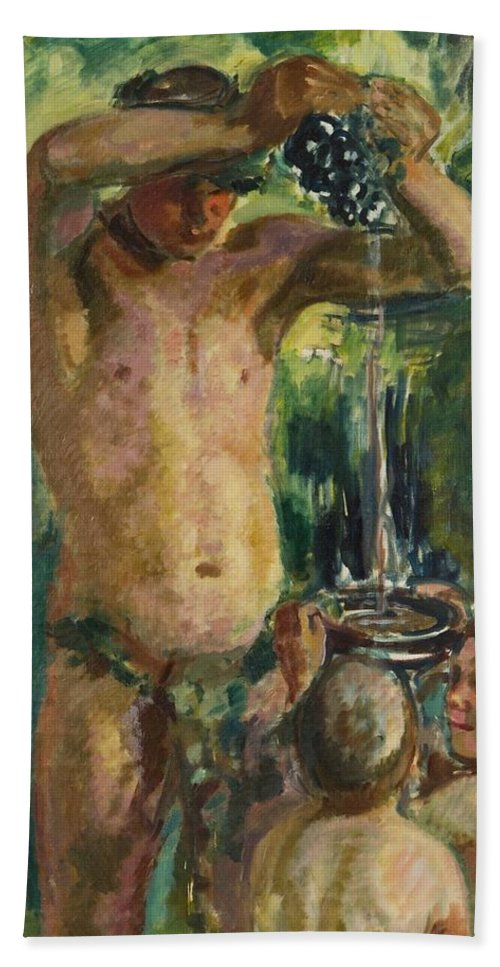 Magnus Enckell (1870-1925) Baccus Bath Sheet featuring the painting Baccus by Magnus Enckell