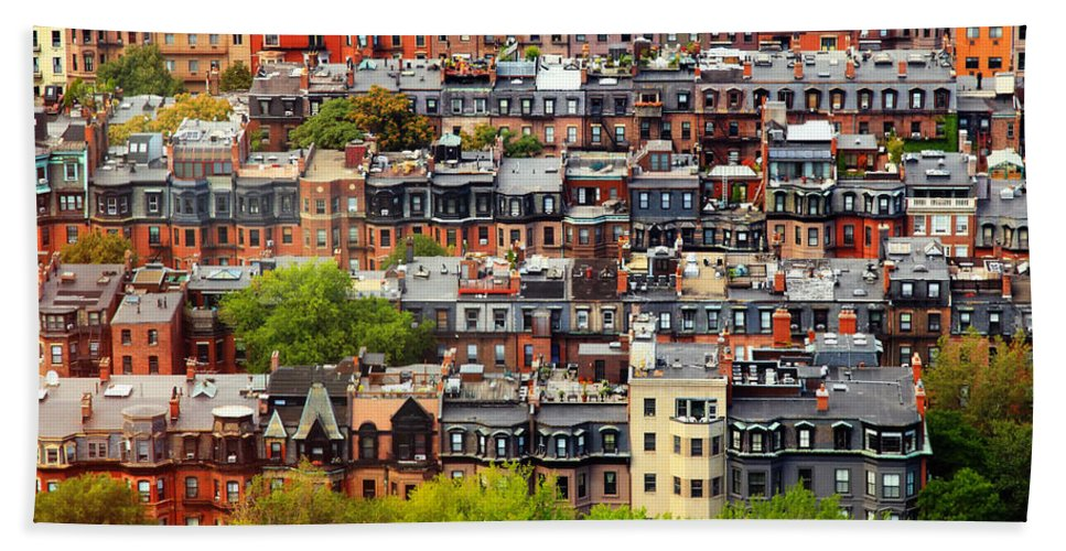 Boston Hand Towel featuring the photograph Back Bay by Rick Berk