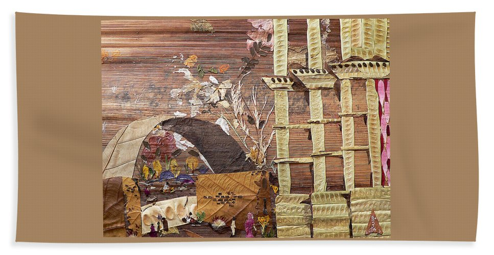 Back Door Entry For Relief To Disabled Bath Sheet featuring the mixed media Back Entry by Basant soni