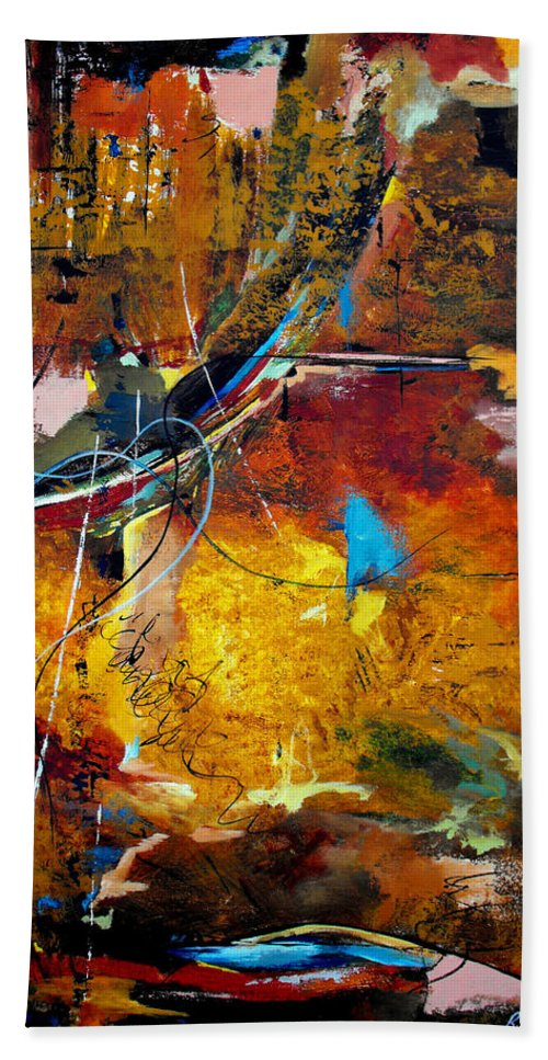 ruth Palmer Bath Sheet featuring the painting Back In The Saddle Again by Ruth Palmer
