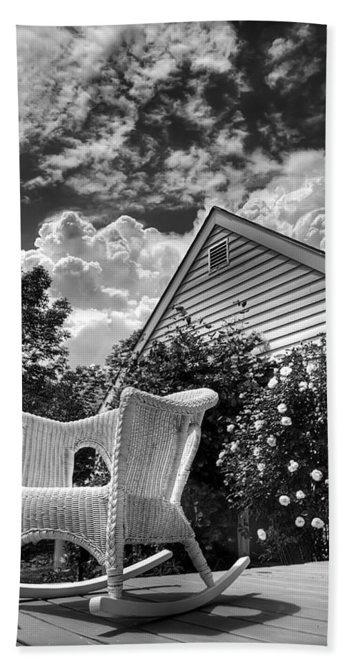 Vermont Bath Sheet featuring the photograph Back Porch Rocking Chair by Tammy Wetzel