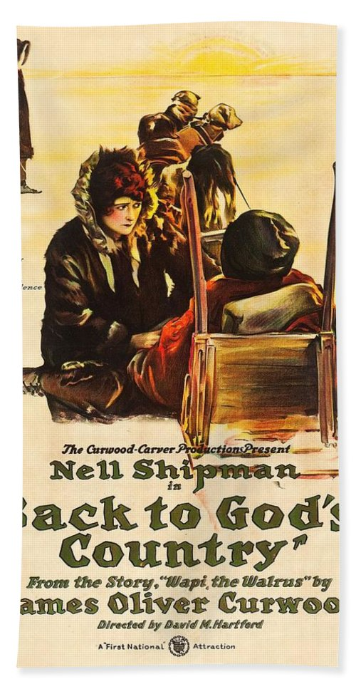 Movie Bath Sheet featuring the drawing Back To God's Country 1919 by Mountain Dreams