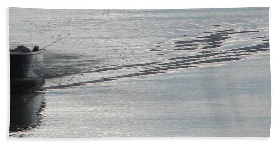 Lake Hand Towel featuring the photograph Back To The Dock by Kelly Mezzapelle