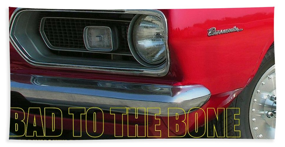 Barracuda Bath Towel featuring the photograph Bad To The Bone by Richard Rizzo