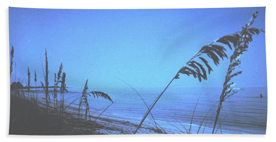 Bath Towel featuring the photograph Bahama Blue by Ian MacDonald