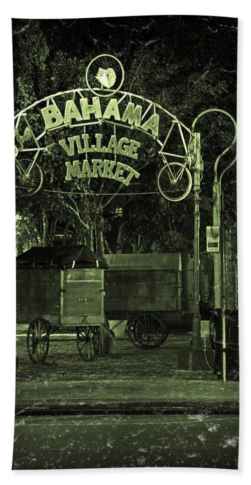 Bahama Village Market Bath Sheet featuring the photograph Bahama Village Market Key West Florida by John Stephens