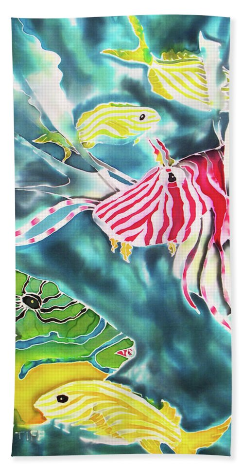Bahamas Art Hand Towel featuring the painting Bahamaian Delicacies by Tiff