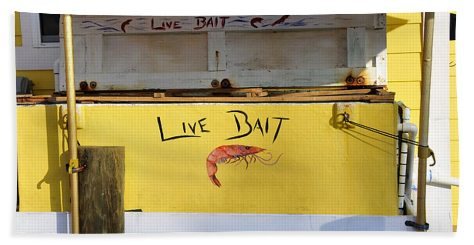 Fine Art Photography Bath Sheet featuring the photograph Bait Box by David Lee Thompson