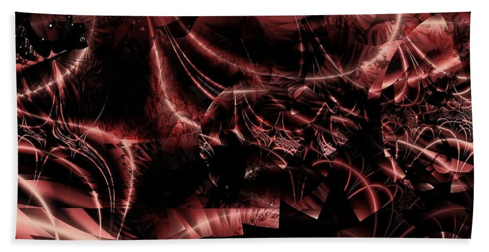 Bakelite Bath Sheet featuring the digital art Bakelite Forms by Ron Bissett
