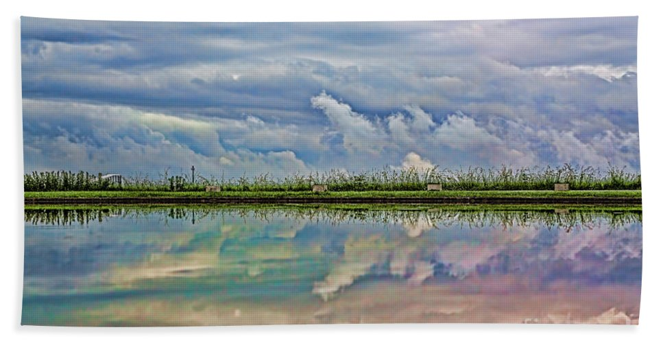 Reflection Hand Towel featuring the photograph Balance by Casper Cammeraat