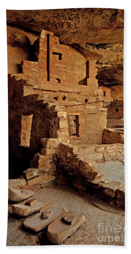 Anasazi Hand Towel featuring the photograph Balcony House, Mesa Verde Np, Co by John R. Foster