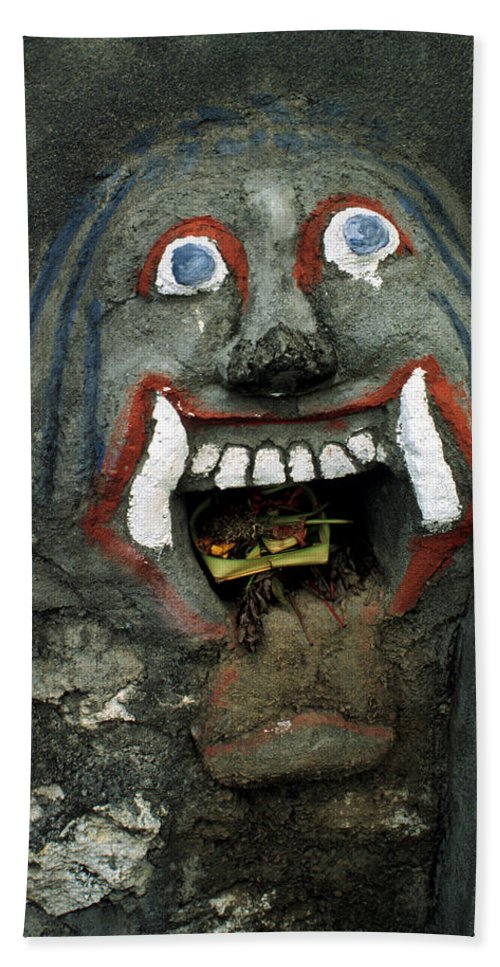 Bali Bath Sheet featuring the photograph Bali Mask by Jerry McElroy