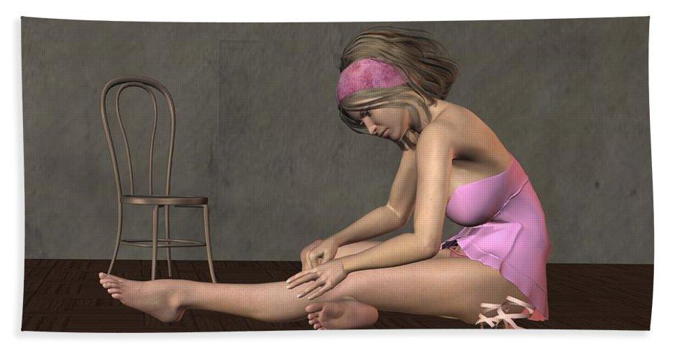 Dancer Bath Towel featuring the digital art Ballerina by John Junek