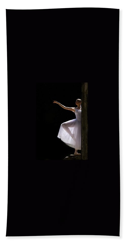 Ballet Dancer Hand Towel featuring the photograph Ballet Dancer6 by George Cabig