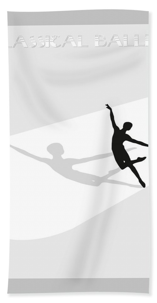 Ballet Bath Sheet featuring the digital art Ballet by Joaquin Abella