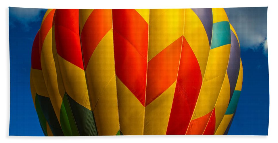 Balloon Hand Towel featuring the photograph Balloon Bright by Karol Livote