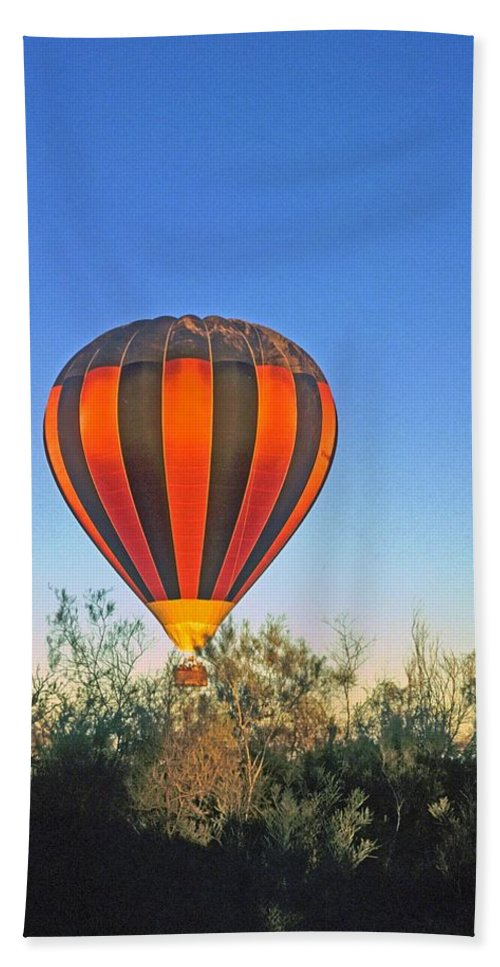 Hot Air Balloon Hand Towel featuring the photograph Balloon Launch by Gary Wonning