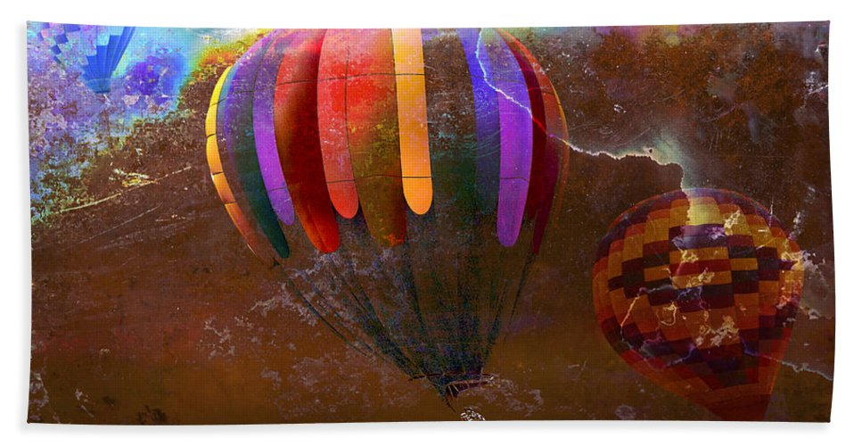 Balloons Hand Towel featuring the photograph Balloon Race by Phyllis Denton