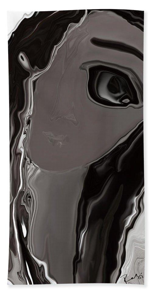 Abstract Hand Towel featuring the digital art Banalata Sen by Rabi Khan