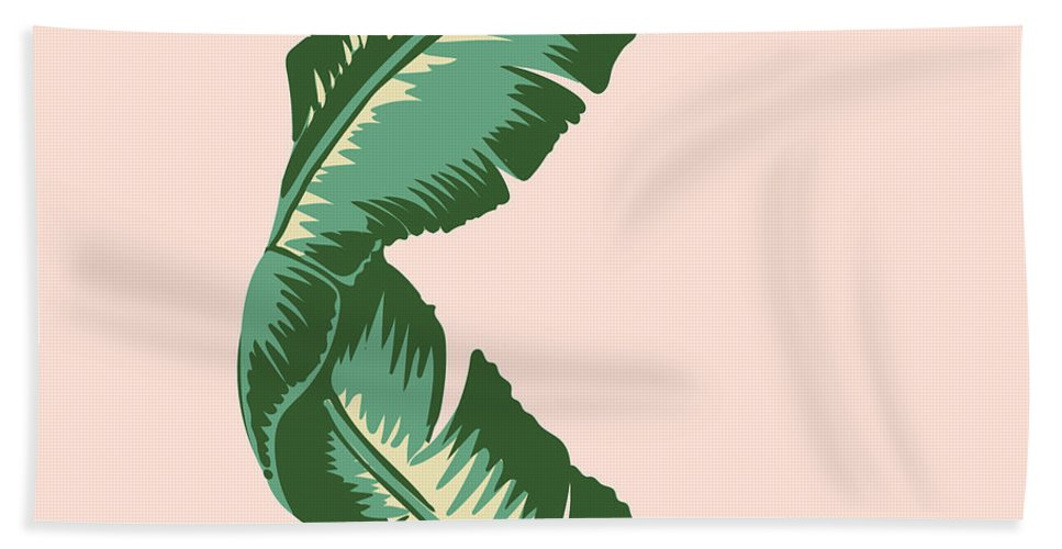 Leaf Bath Towel featuring the digital art Banana Leaf Square Print by Lauren Amelia Hughes