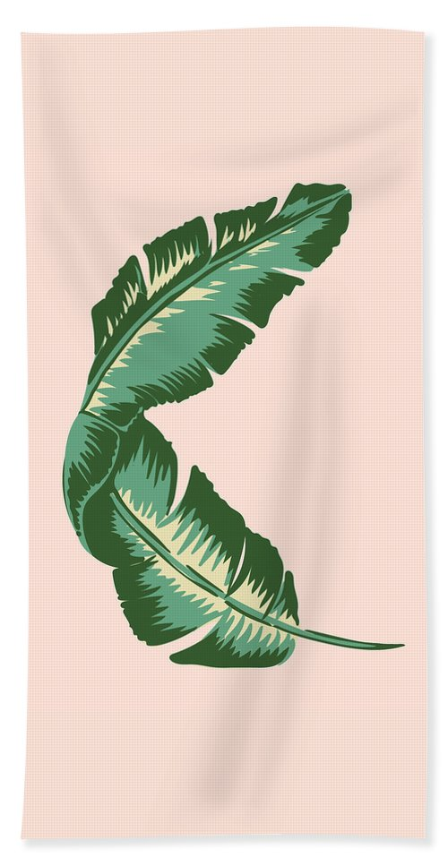 Leaf Hand Towel featuring the digital art Banana Leaf Square Print by Lauren Amelia Hughes