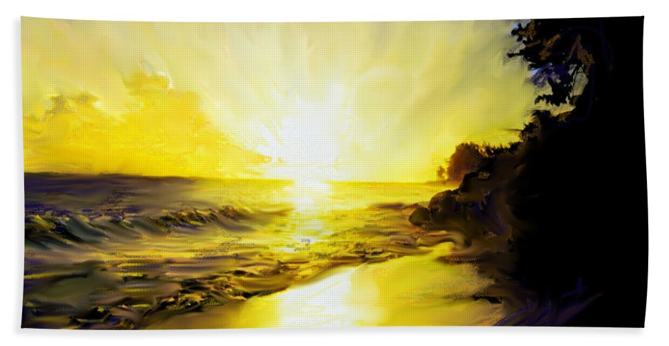 Barbados Bath Sheet featuring the photograph Barbados West Coast Sunset by Ian MacDonald