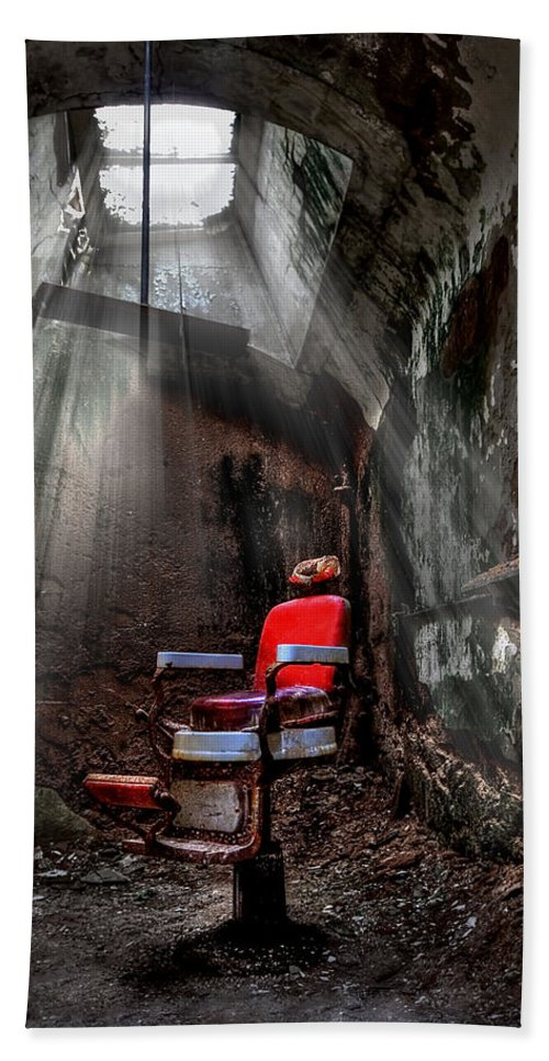 Abandoned Hand Towel featuring the photograph Barber Shop by Evelina Kremsdorf