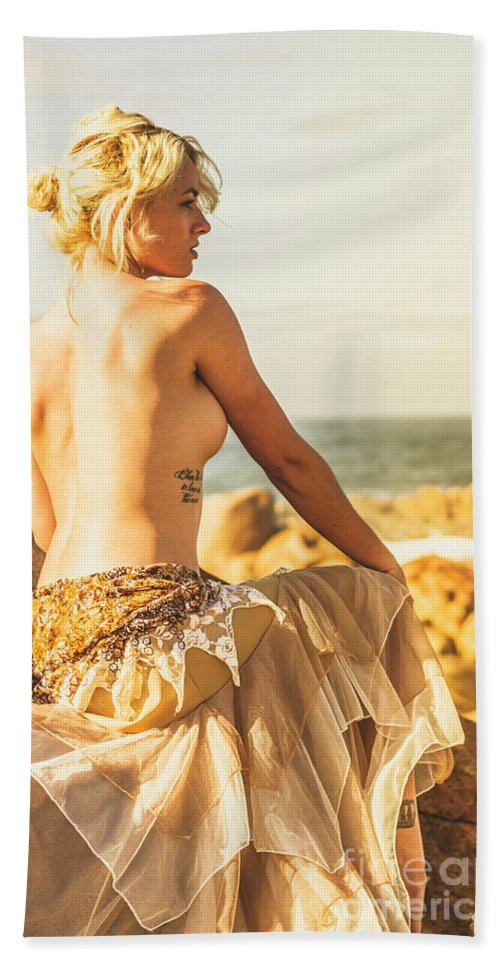 Fine Art Bath Towel featuring the photograph Bare Elegance by Jorgo Photography - Wall Art Gallery