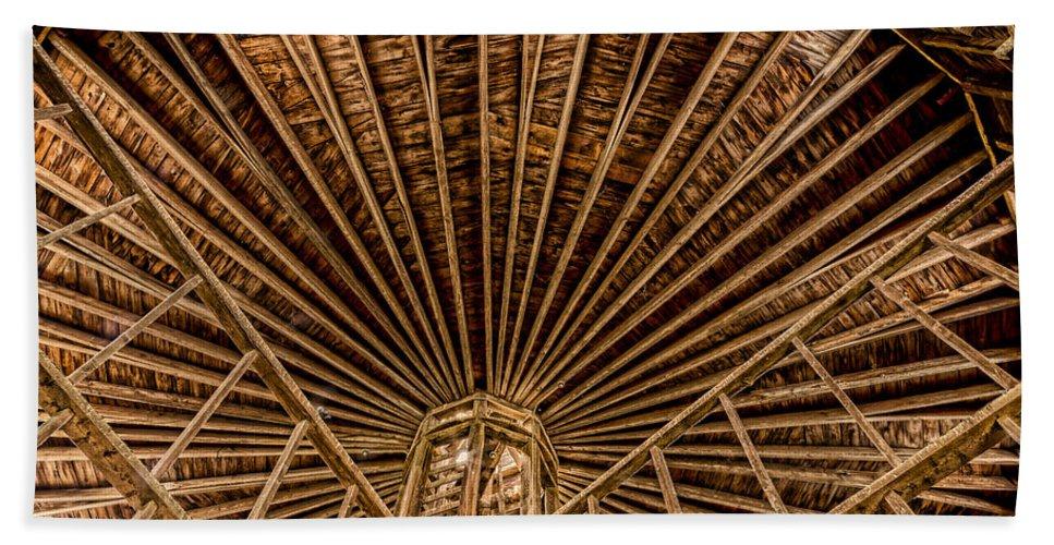 Barn Bath Sheet featuring the photograph Barn Beams by Stephen Stookey