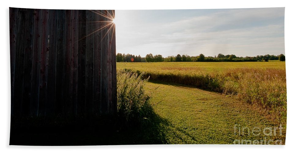 Barn Hand Towel featuring the photograph Barn Highlight by Steven Dunn