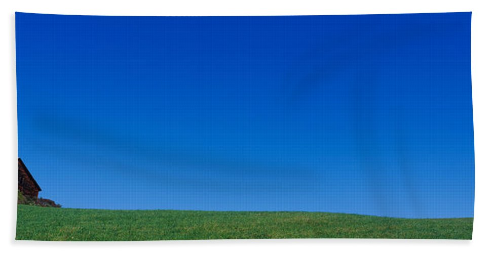 Photography Bath Sheet featuring the photograph Barn On A Landscape, New Hampshire, Usa by Panoramic Images